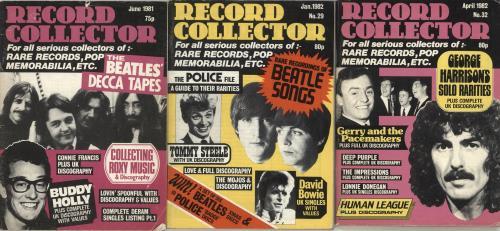 The Beatles Quantity of Three Record Collector Magazines magazine UK BTLMAQU705922