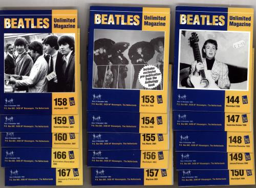 The Beatles Quantity Of Twenty-Four 'Beatles Unlimited' Magazines fanzine Dutch BTLFAQU705819