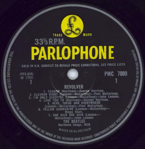 The Beatles Revolver - 1st - VG / WOS vinyl LP album (LP record) UK BTLLPRE768473