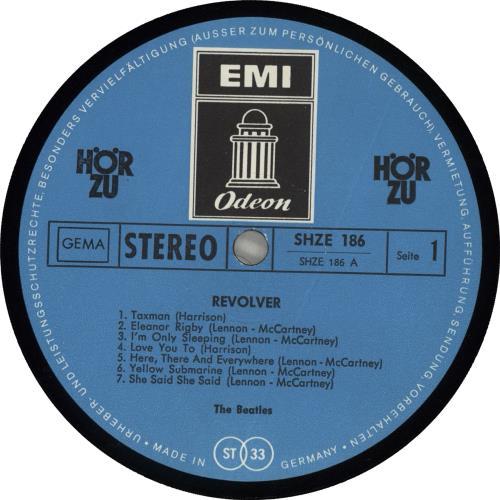 The Beatles Revolver - Blue Label - VG vinyl LP album (LP record) German BTLLPRE713292