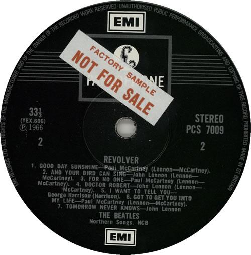 The Beatles Revolver - EMI - Sample vinyl LP album (LP record) UK BTLLPRE272291