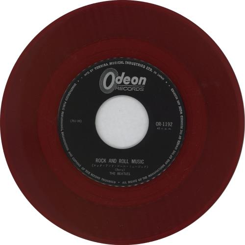 "The Beatles Rock And Roll Music - 1st - Red Vinyl -EX 7"" vinyl single (7 inch record) Japanese BTL07RO756540"