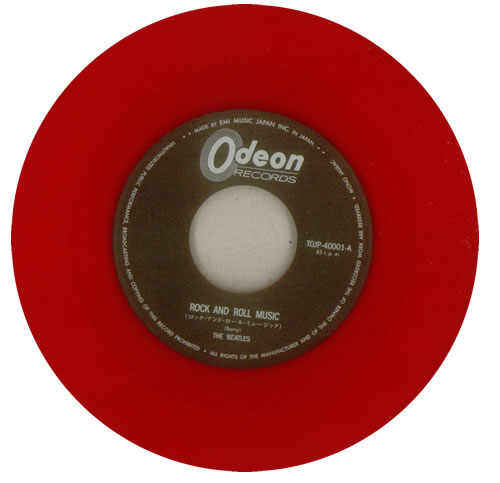 "The Beatles Rock And Roll Music - Red Vinyl 7"" vinyl single (7 inch record) Japanese BTL07RO539870"