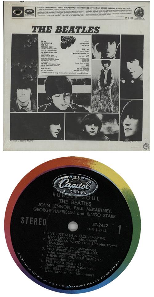 The Beatles Rubber Soul - 2nd - Small Slick - Misprint vinyl LP album (LP record) US BTLLPRU567605
