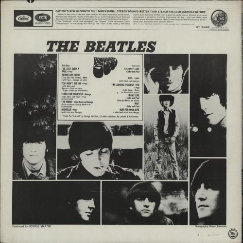 The Beatles Rubber Soul - Apple vinyl LP album (LP record) US BTLLPRU764641