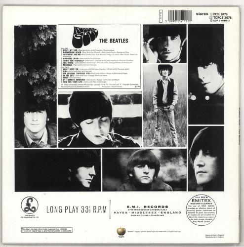 The Beatles Rubber Soul - DMM vinyl LP album (LP record) UK BTLLPRU272301
