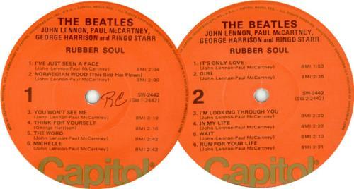 The Beatles Rubber Soul Orange Label Us Vinyl Lp Album