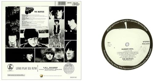 The Beatles Rubber Soul Withdrawn White Apple Label Uk