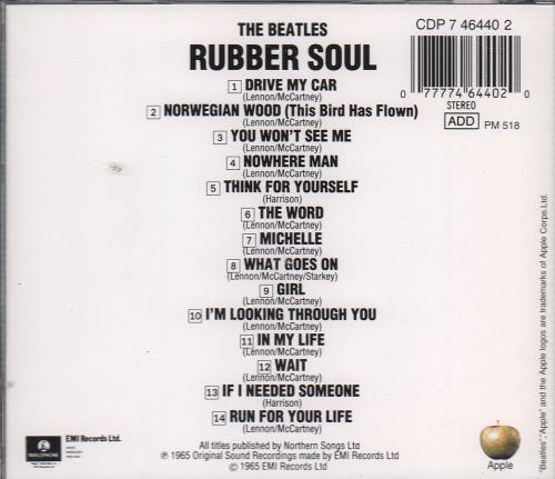 The Beatles Rubber Soul CD album (CDLP) Dutch BTLCDRU650210
