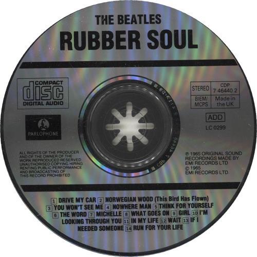 The Beatles Rubber Soul CD album (CDLP) UK BTLCDRU747758