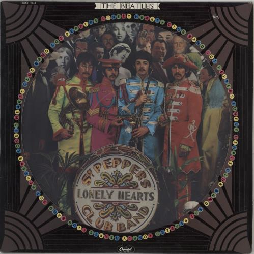 The Beatles Sgt Peppers Lonely Hearts Club Band - EX picture disc LP (vinyl picture disc album) US BTLPDSG307317