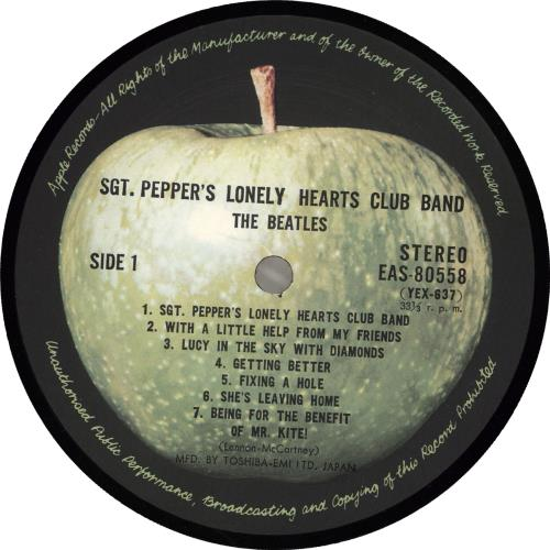 The Beatles Sgt. Pepper's + Obi - EX vinyl LP album (LP record) Japanese BTLLPSG713721