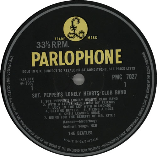 The Beatles Sgt. Pepper's - 1st - Complete - VG vinyl LP album (LP record) UK BTLLPSG470153
