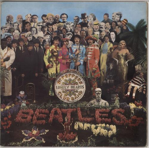 The Beatles Sgt. Pepper's - 1st - EX vinyl LP album (LP record) UK BTLLPSG587427