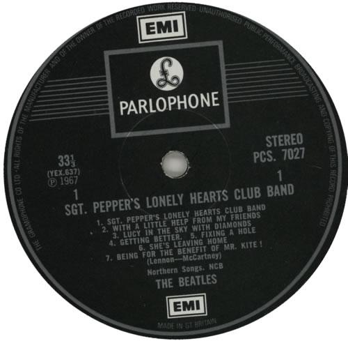 The Beatles Sgt. Pepper's - 2 Box label - Gram Co - EX vinyl LP album (LP record) UK BTLLPSG585412