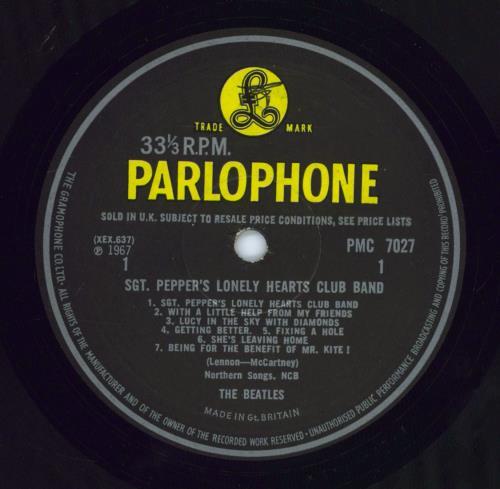 The Beatles Sgt. Pepper's - '4th Proof' - EX vinyl LP album (LP record) UK BTLLPSG770324