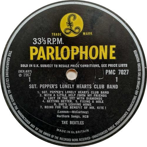 The Beatles Sgt. Pepper's - '4th Proof' vinyl LP album (LP record) UK BTLLPSG522242