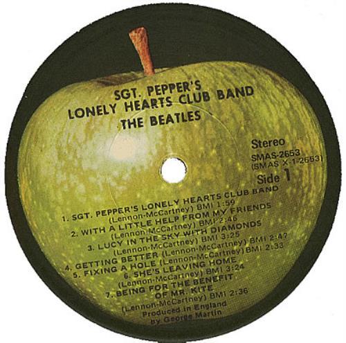 The Beatles Sgt Pepper S Apple Capitol Logo Ex Us
