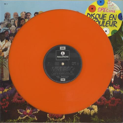 The Beatles Sgt. Pepper's - Orange Vinyl/Die-Cut Sleeve vinyl LP album (LP record) French BTLLPSG447409
