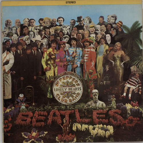 The Beatles Sgt. Pepper's - Peach Label vinyl LP album (LP record) Canadian BTLLPSG611558