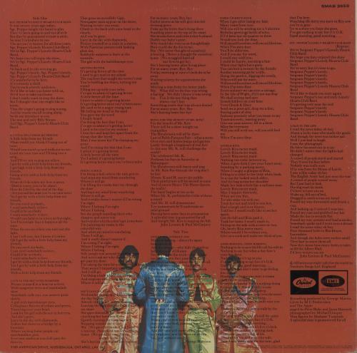The Beatles Sgt. Pepper's - Purple Label - VG vinyl LP album (LP record) Canadian BTLLPSG760189