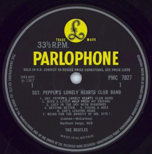 The Beatles Sgt. Pepper's - Wide Spine - VG+ vinyl LP album (LP record) UK BTLLPSG769702