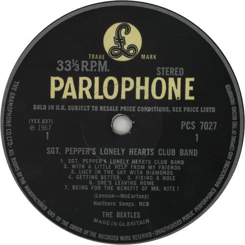 The Beatles Sgt. Pepper's - Wide Spine - VG vinyl LP album (LP record) UK BTLLPSG660381