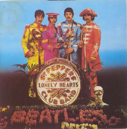 """The Beatles Sgt. Peppers Lonely Hearts Club Band + p/s 7"""" vinyl single (7 inch record) Italian BTL07SG501794"""