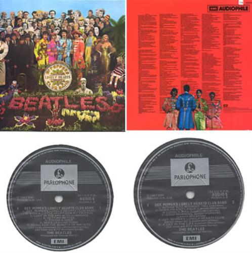 The Beatles Sgt. Pepper's Lonely Hearts Club Band - Audiophile AUDIO-5 vinyl LP album (LP record) Australian BTLLPSG285467