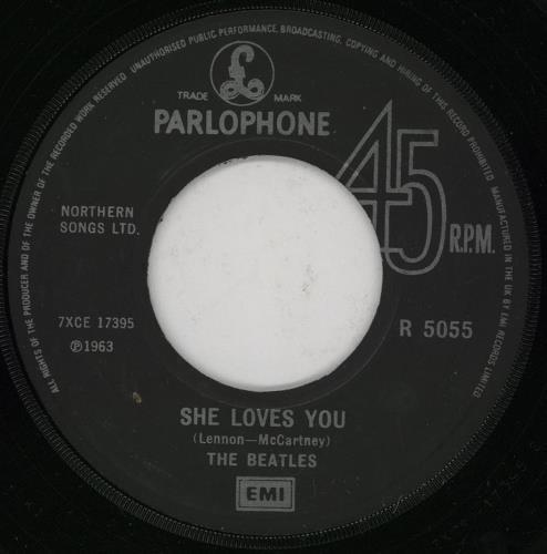 "The Beatles She Loves You - 20th - Jukebox 7"" vinyl single (7 inch record) UK BTL07SH759808"