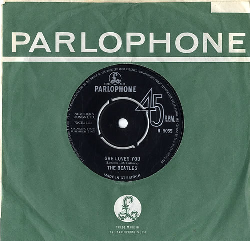 "The Beatles She Loves You - 2nd 7"" vinyl single (7 inch record) UK BTL07SH592420"