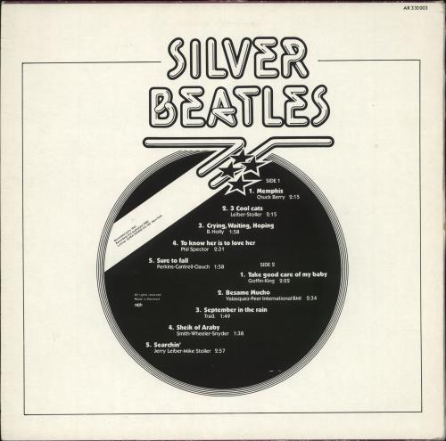 The Beatles Silver Beatles - VG vinyl LP album (LP record) Danish BTLLPSI708089