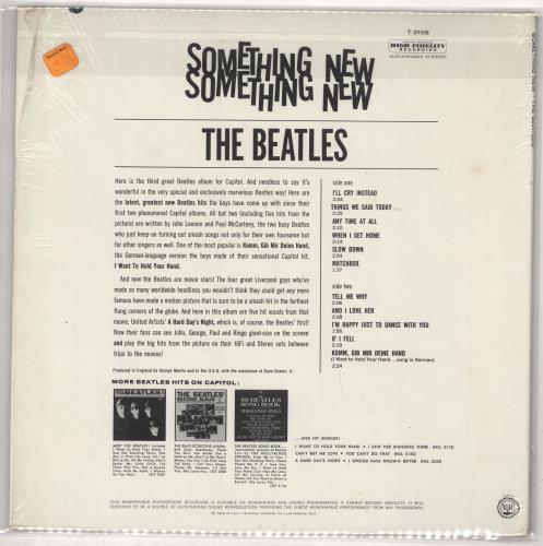 The Beatles Something New - 1st - shrink vinyl LP album (LP record) US BTLLPSO78037