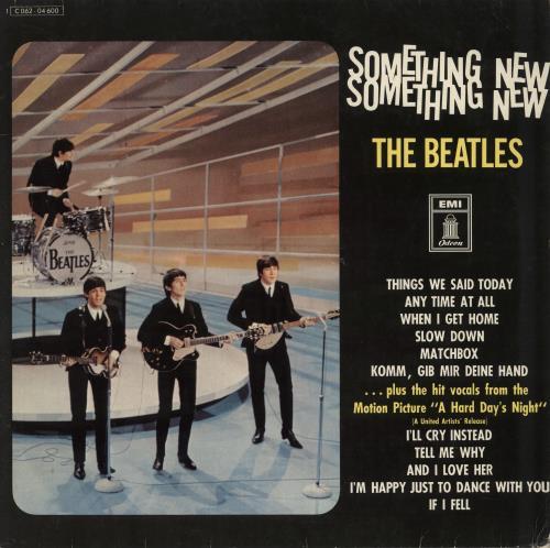 The Beatles Something New - Blue Label - VG vinyl LP album (LP record) German BTLLPSO772378