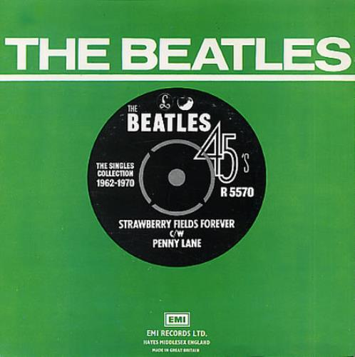 "The Beatles Strawberry Fields Forever - 1976 7"" vinyl single (7 inch record) UK BTL07ST331713"