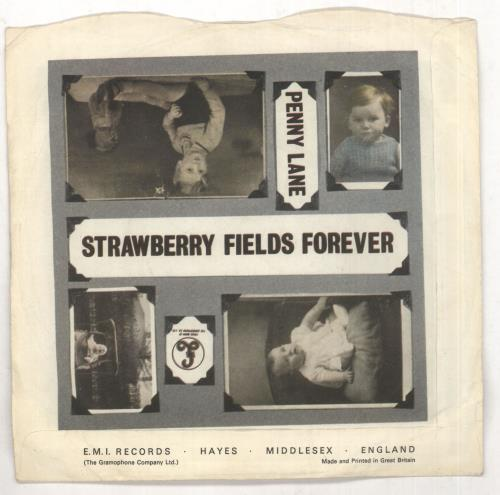 "The Beatles Strawberry Fields Forever - 1st - 4pr - P/S - EX 7"" vinyl single (7 inch record) UK BTL07ST294632"