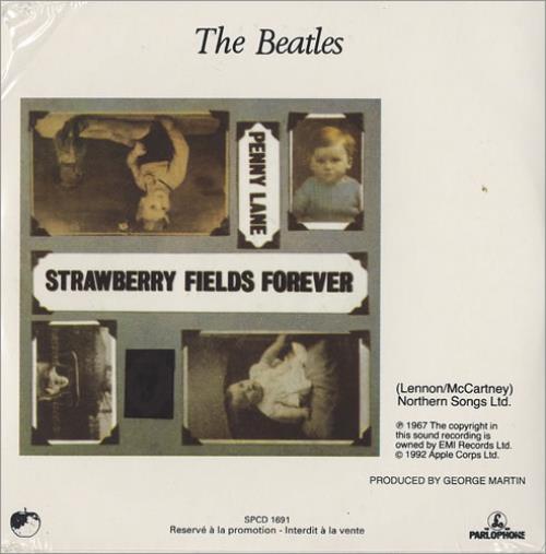 """The Beatles Strawberry Fields Forever CD single (CD5 / 5"""") US BTLC5ST100227"""