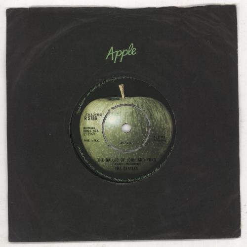 "The Beatles The Ballad Of John And Yoko - 2nd - 4pr 7"" vinyl single (7 inch record) UK BTL07TH588181"