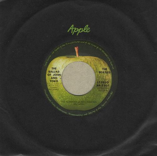 "The Beatles The Ballad Of John And Yoko 7"" vinyl single (7 inch record) Japanese BTL07TH183995"