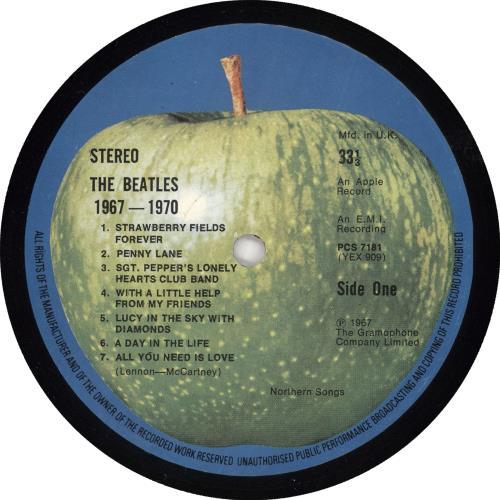 The Beatles The Beatles / 1967-1970 - 1st 2-LP vinyl record set (Double Album) UK BTL2LTH143983