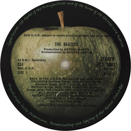 The Beatles The Beatles [White Album] - 1st - EX 2-LP vinyl record set (Double Album) UK BTL2LTH282283