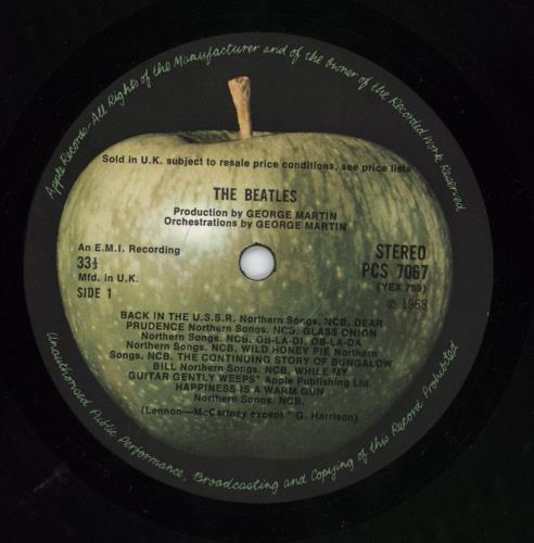 The Beatles The Beatles [White Album] - 1st 2-LP vinyl record set (Double Album) UK BTL2LTH298583
