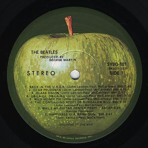 the beatles the beatles white album mfd by apple us 2