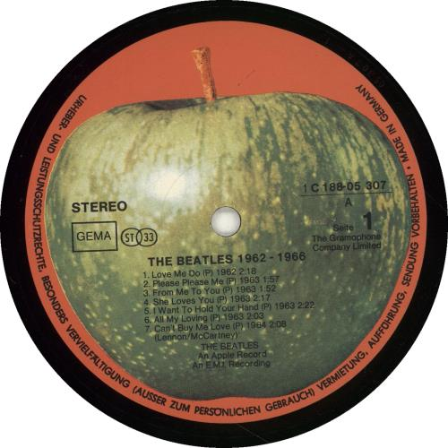 The Beatles The Beatles 1962-1966 2-LP vinyl record set (Double Album) German BTL2LTH701057