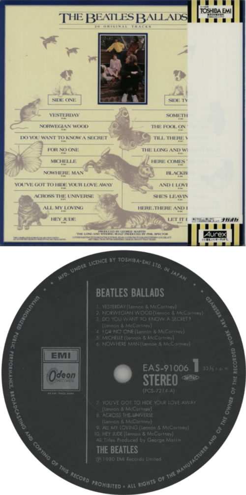 The Beatles The Beatles Ballads vinyl LP album (LP record) Japanese BTLLPTH42627