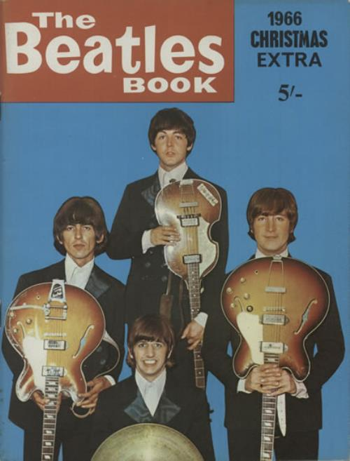 "THE BEATLES The Beatles Book 1966 Christmas Extra (Rare original 1966 UK 48-page 11"" x 8"" softback book which is packed with great photographs, letters, ..."