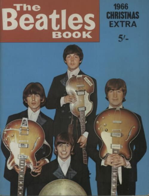 """THE BEATLES The Beatles Book 1966 Christmas Extra (Rare original 1966 UK 48-page 11"""" x 8"""" softback book which is packed with great photographs, letters, ..."""