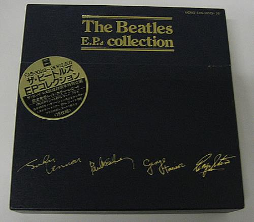 The Beatles The Beatles EP Collection - Red + Obi Sticker box set Japanese BTLBXTH222570