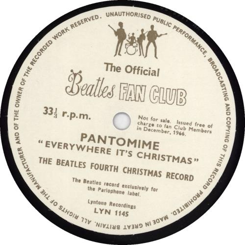 "The Beatles The Beatles Fourth Christmas Record + Newsletter 7"" vinyl single (7 inch record) UK BTL07TH297606"