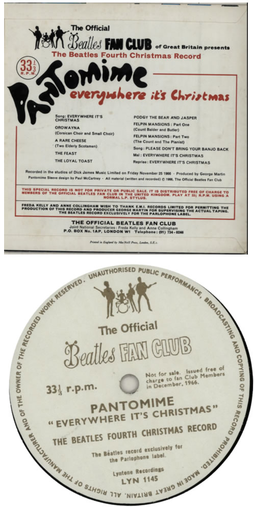 "The Beatles The Beatles Fourth Christmas Record - P/S 7"" vinyl single (7 inch record) UK BTL07TH66323"